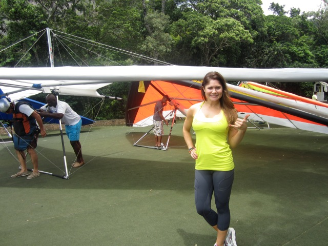 In my Lulu on my last trip to RIO, about to go hang gliding- I'm obsessed with this stuff!