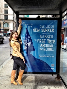 As soon as I learned about the Gnome Nabbing contest, I started seeing signs and billboards for it all over New York City, which made being a part of it that much more exciting.