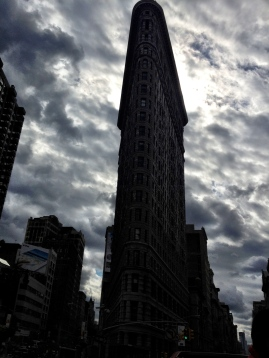 The Flatiron Building in Manhattan that borders Madison Square Park