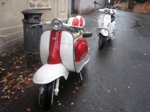 My 1970's vintage Vespa for our tour through Roma...