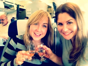 Champagne toast from Lisbon to Rio