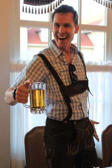 Just a little Lederhosen fun with Chris of www.captainandclark.com.