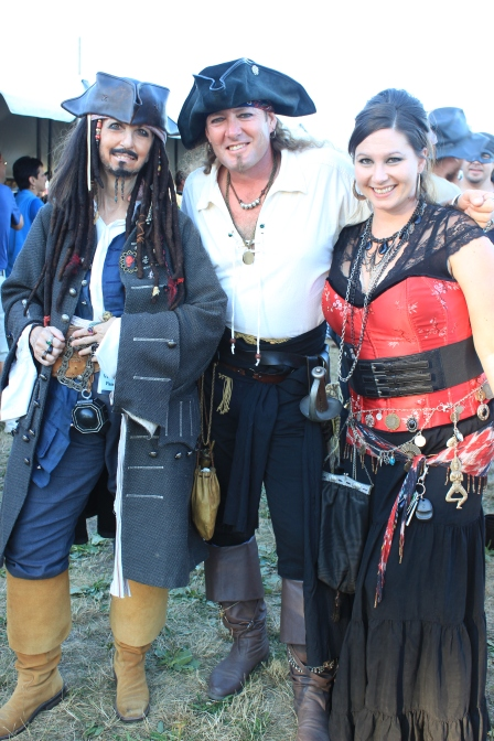 Real-life pirates! This made for some rowdy, tall ship kind-of fun.